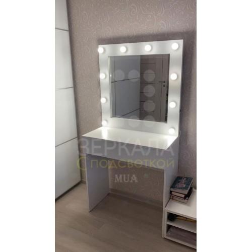 Туалетный стол Ирэн с зеркалом и подсветкой