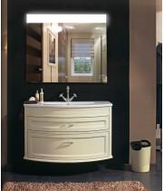 Зеркало в ванную с подсветкой Аврора размер 40 на 40 см